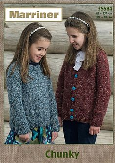 35584 Sweater and Cardigan in Marriner Chunky
