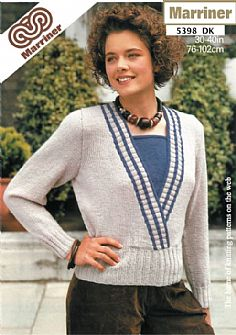 M5398 Sweater with Inset in Dk