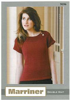M9096 Knitted Boat Neck Top in Dk