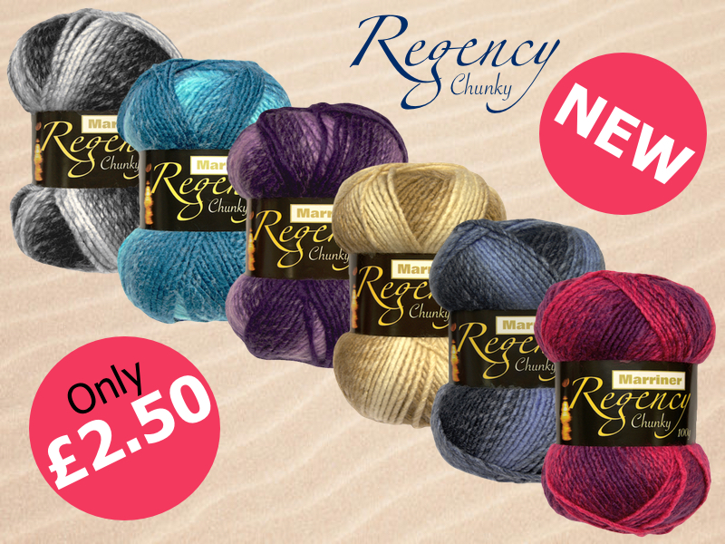 New Regency Chunky Yarn from Marriners - only £2.50