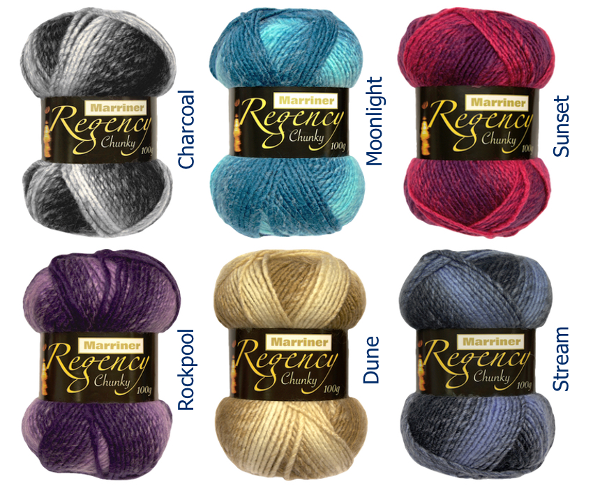 New Regency Chunky yarn from Marriner's - only £2.50 per 100g ball