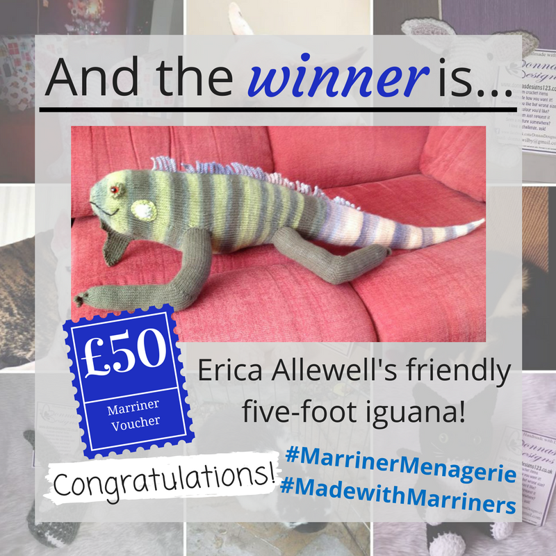 #MarrinerMenagerie April winner - Erica Allewell