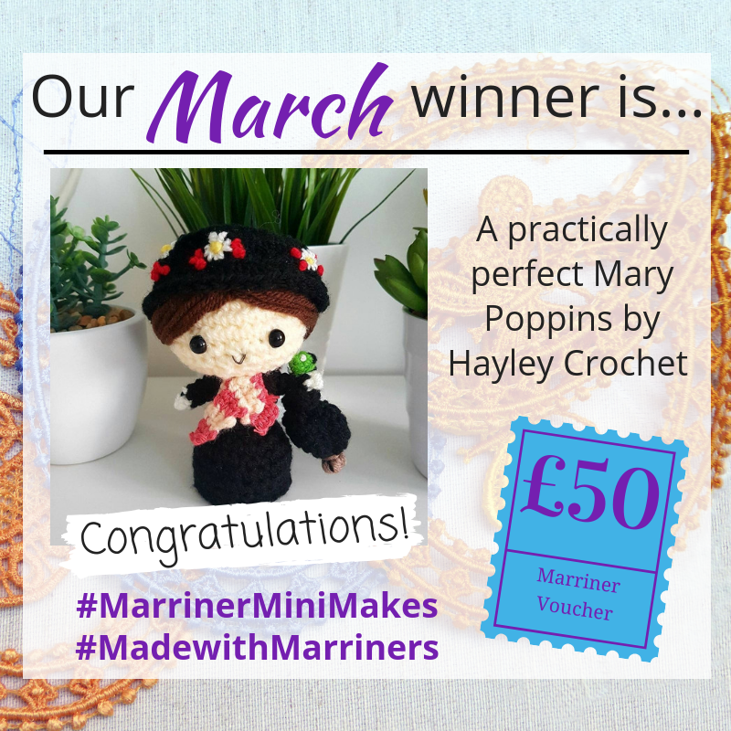 #MarrinerMiniMakes March 2019 competition winner