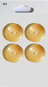 Cream Round Shell Effect Buttons 181