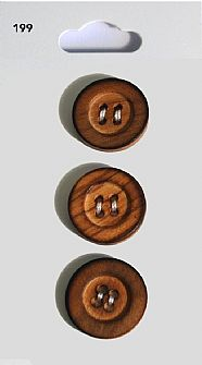 Wooden Round Rimmed Buttons 199