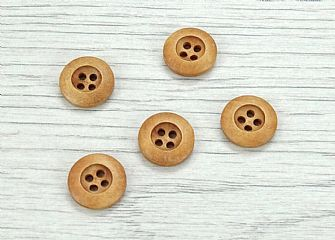 Wooden Round Rimmed Buttons 201