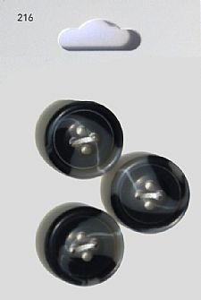 Black Round Swirl Effect Buttons 216