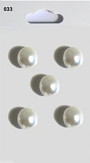 Pearl Effect Domed Buttons 033