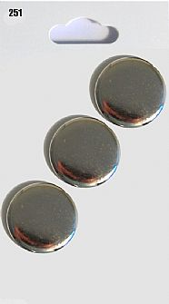 Silver Round Buttons 251