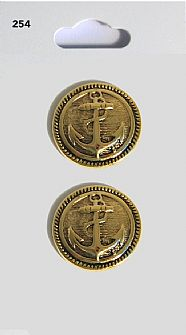 Gold Round Anchor Buttons 254