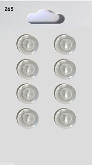 Clear Round Rimmed Buttons 265