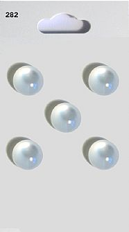 Clear Round Domed Buttons 282