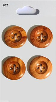 Wooden Round Rimmed Buttons 202