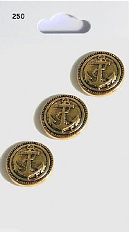 Gold Round Anchor Buttons 250