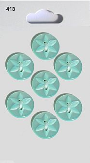 Green Round Star Buttons 418