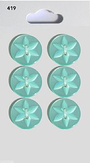 Green Round Star Buttons 419