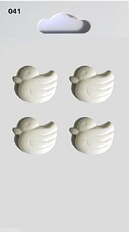White Duck Buttons 041