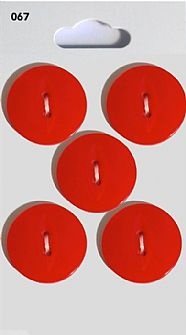 Red Round Fisheye Buttons 067