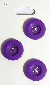 Purple Round Rimmed Buttons 084