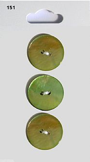 Green Round Shell Buttons 151