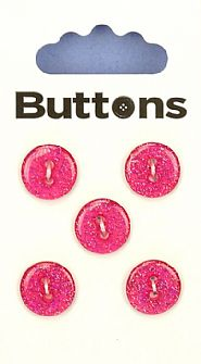 Red Glitter Round Buttons 057
