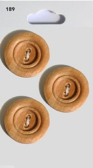 Wooden Round Rimmed Buttons 189