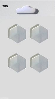 Clear Hexagon Button 280