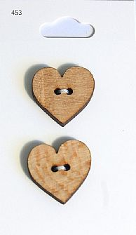 Wooden Heart Buttons 453