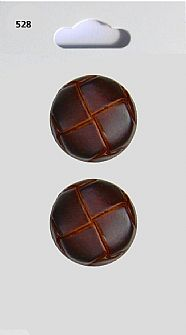 Leather effect Round Buttons 528