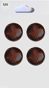 Leather effect Round Buttons 525