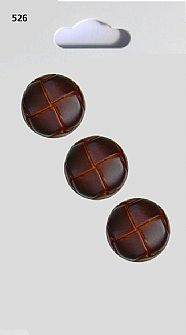 Leather effect Round Buttons 526