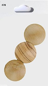 Wooden Round Buttons 478
