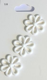 White Flower Buttons 538