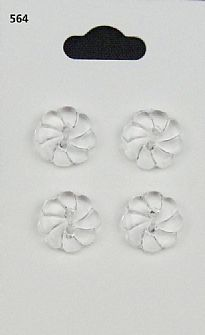 Clear Flower Buttons 564