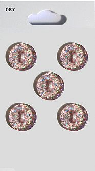 Purple Glitter Round Buttons 087