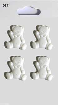 White Teddy Buttons 037