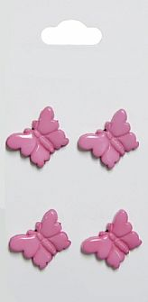 Pink Butterfly Buttons 589