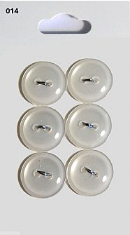 Clear Round Rimmed Buttons 014