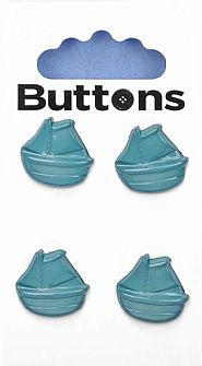 Blue Boat Buttons 117