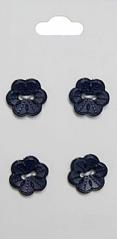 Navy Flower Buttons 118