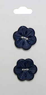 Navy Flower Buttons 119