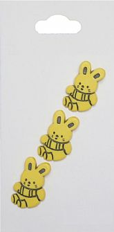 Yellow Rabbit Buttons 666