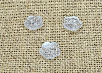 Clear Glitter Flower Buttons 016
