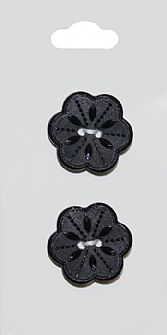 Black Flower Buttons 218
