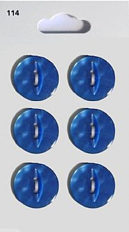 Blue Round Fisheye Buttons 114