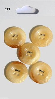 Shell Effect Round Rimmed Buttons 177