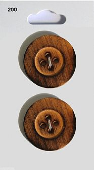 Wood Effect Round Buttons 200