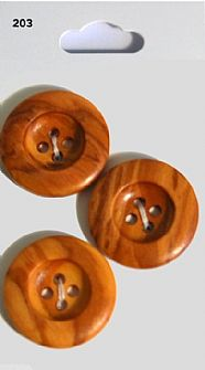 Wood Effect Round Buttons 203