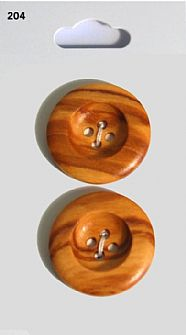 Wood Effect Round Buttons 204