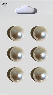 Pearl Effect Domed Buttons 020